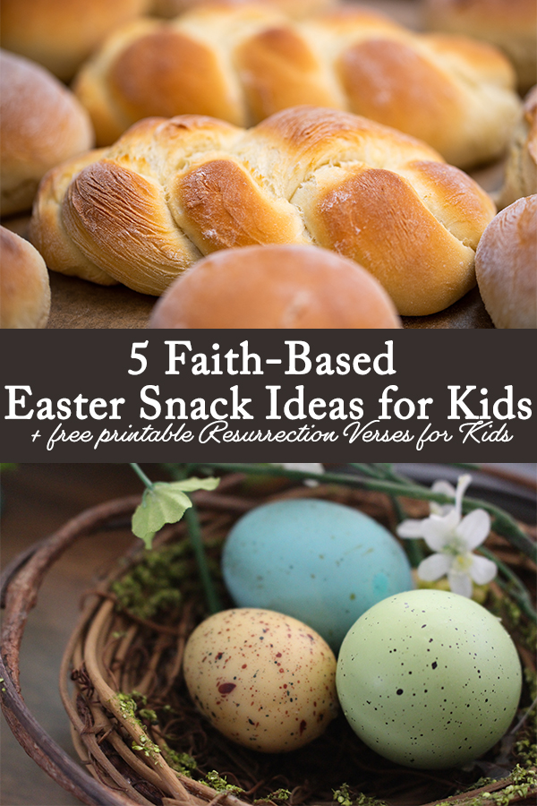 Add a little faith to your Easter celebration with these 5 faith-based Easter snack ideas for kids and free set of printable resurrection verses, perfect for commemorating the resurrection of Jesus from the dead.
