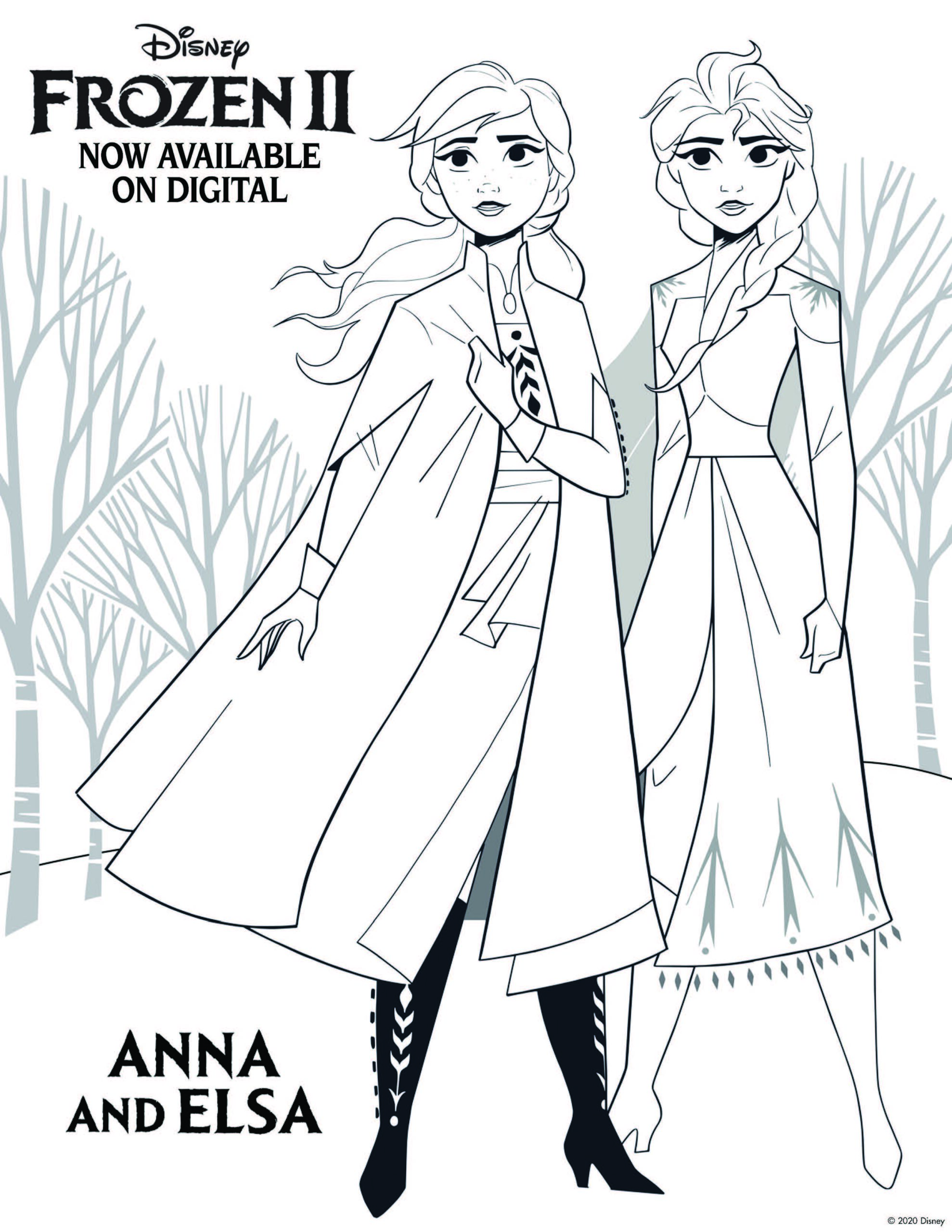 Frozen 2 Activity Sheets