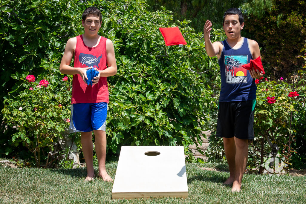 Cornhole - Backyard Family Staycation Ideas