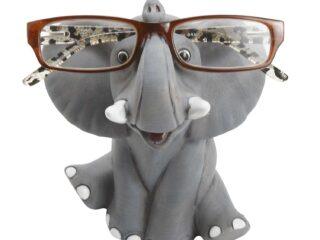 Whimsical Happy Elephant Eyeglass Holder