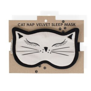 Purr-fect Cat Nap Velvet Sleep Mask