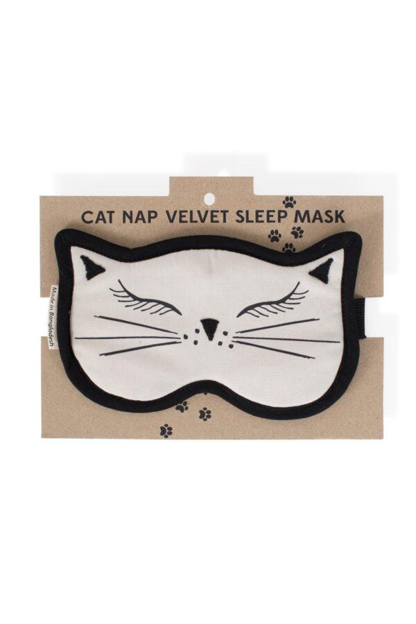 Purr-fect Cat Nap Velvet Sleep Mask