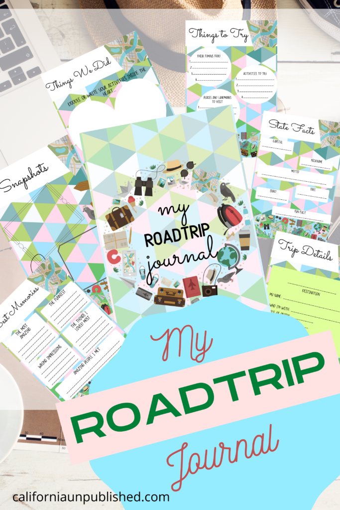 Our free printable road trip journal has seven pages for your trip details, things to try, best memories, and attaching your travel snapshots. Don't forget to print and pack this travel journal on your next adventure.