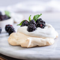 Mini Blackberry Pavlova Recipe
