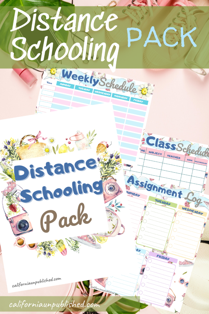 Feeling overwhelmed? Our free distance learning planner printable will help you organize everything from your daily routine to your kid's live meetings. You can do this!  Plus, we're sharing how to make the best of distance learning this school year.
