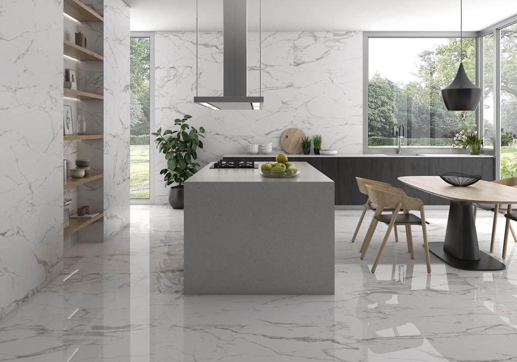 elegant kitchen with quartz countertops