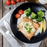 Sitka Alaskan Salmon With Lemon Garlic Cream