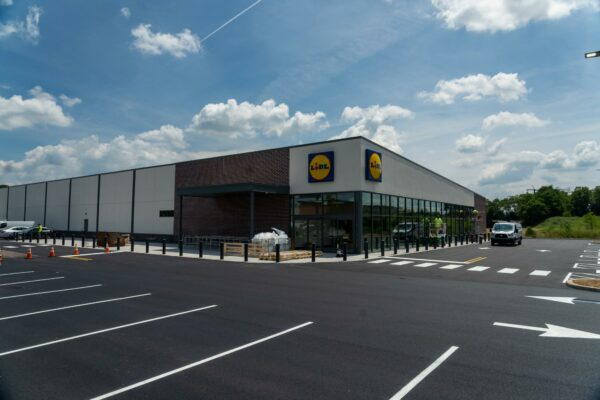 Lidl store built by Ames Construction