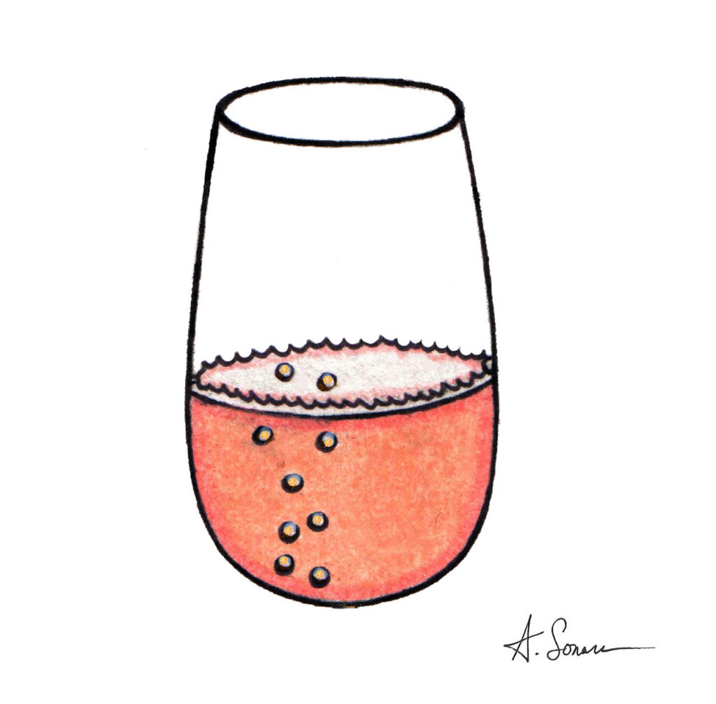 Pink Champagne [2019]; This goes great with oysters and caviar. Drink responsibly.