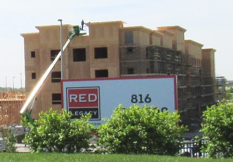 A new hotel, the Residence Inn, is under construction to the southwest of The Legends Outlets parking garage. Another development was announced Monday night for just west of The Legends Outlets parking garage.
