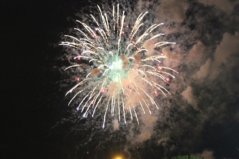A fireworks display from May 24 after the T-Bones game at CommunityAmerica Ballpark in Kansas City, Kan. There will be fireworks displays after the T-Bones games July 3 and 4 at CommunityAmerica Ballpark. (File photo by Steve Rupert)