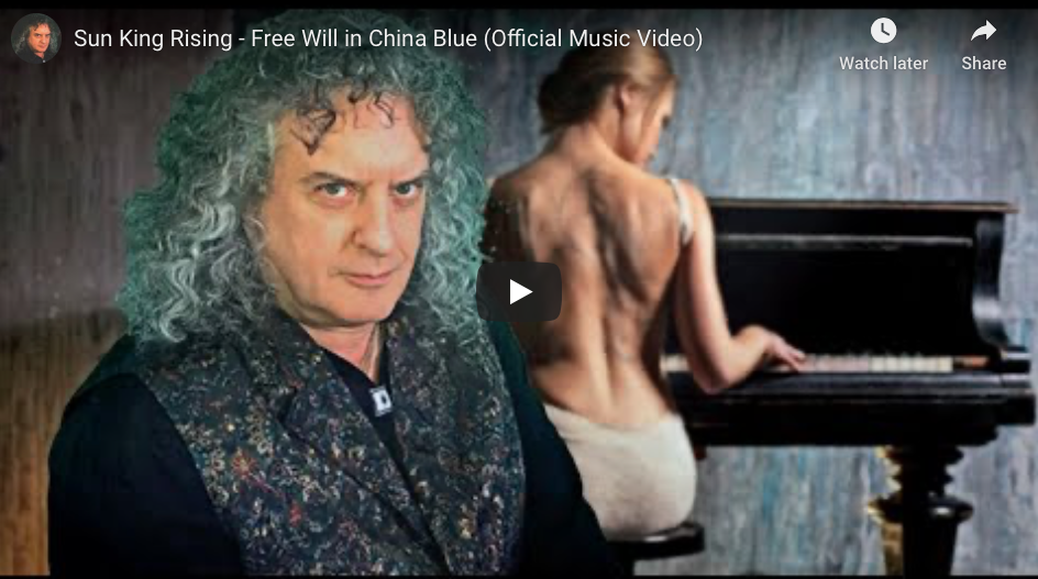 """We are Thrilled that """"Free Will in China Blue"""" by Sun King Rising Premiered Exclusively on ReZonatZ Today!"""