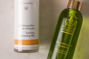 Dr. Hauschka Soothing Cleansing Milk and Tata Harper Nourishing Oil Cleanser