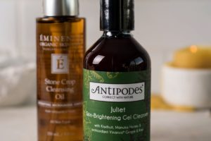 Eminence Organics Stone Crop Cleansing Oil and Antipodes Juliet Skin-Brightening Gel Cleanser