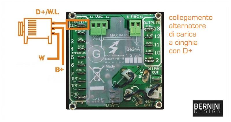 Centralina elettronica gruppo elettrogeno alternatore