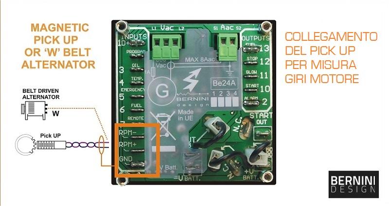 Centralina elettronica gruppo elettrogeno pick up