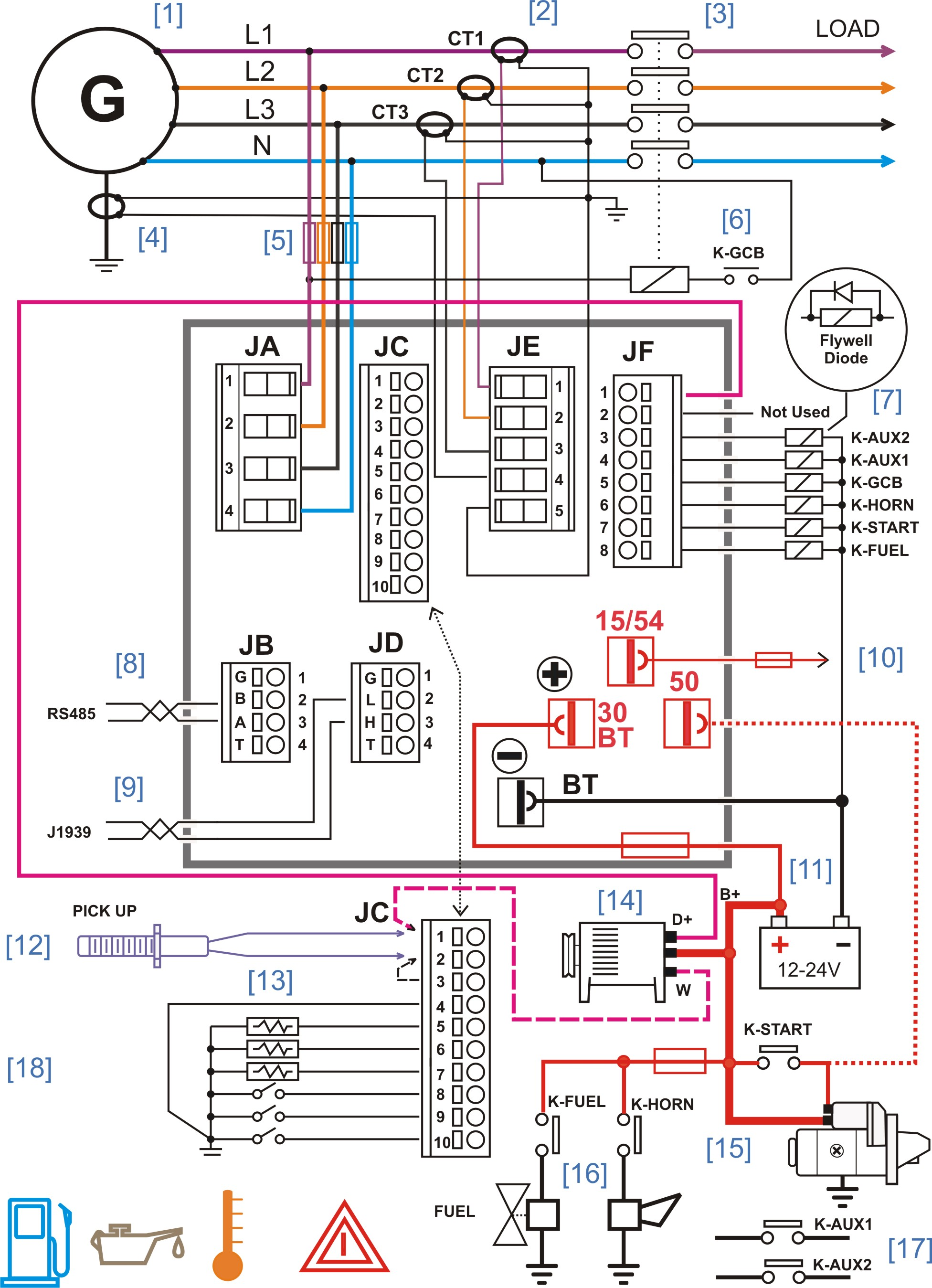 generator controller wiring diagram – Generator ControllersGenerator Controllers