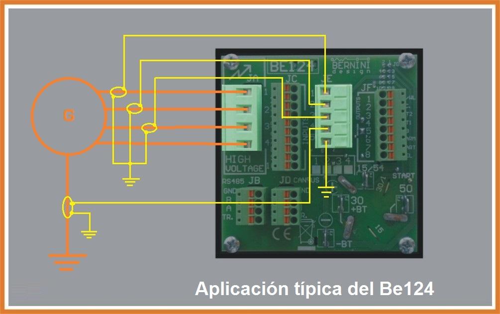 Aplicación típica del módulo de control de arranque automatico