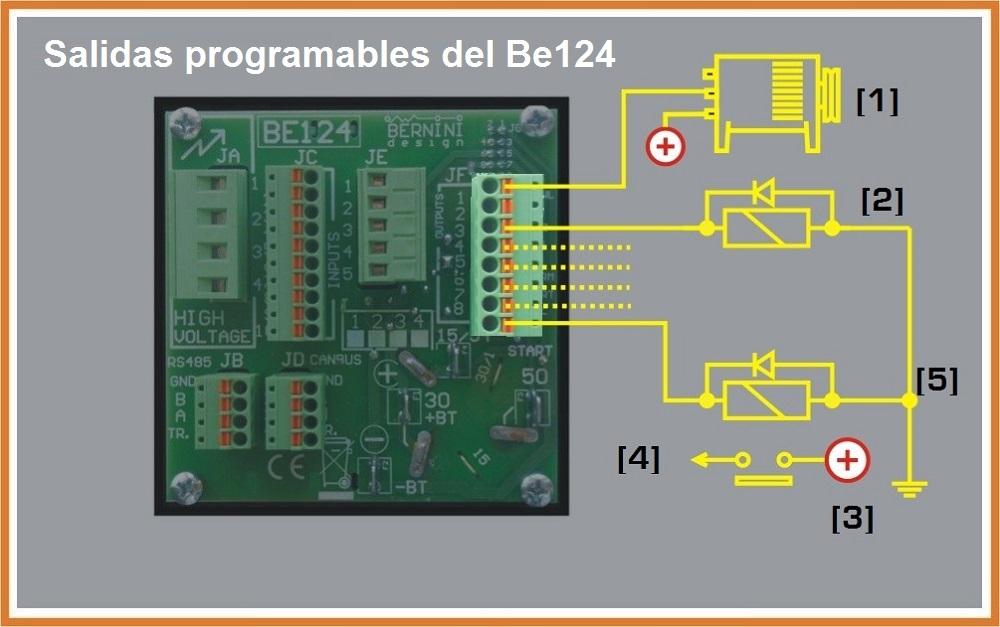Salidas Programables módulo de control de arranque automatico
