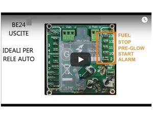 centralina gruppo elettrogeno be24 video tutorial