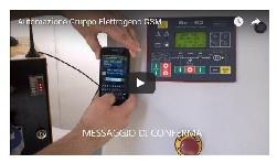 video tutorial controllo sms cenralina gruppo elettrogeno
