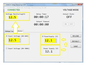 CALIBRATING THE MONITORING VOLTAGE RELAY