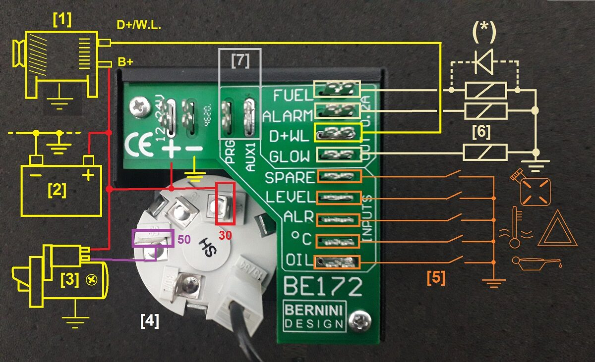 BE172 RECOMMENDED WIRING DIAGRAM