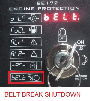 BELT BREAK SHUTDOWN