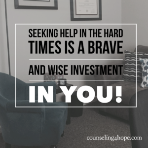counselor/therapist investment in you
