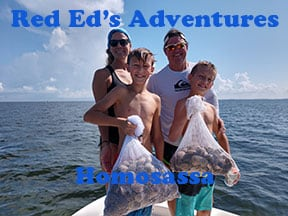 Homasassa scalloping charters with captain Red Ed