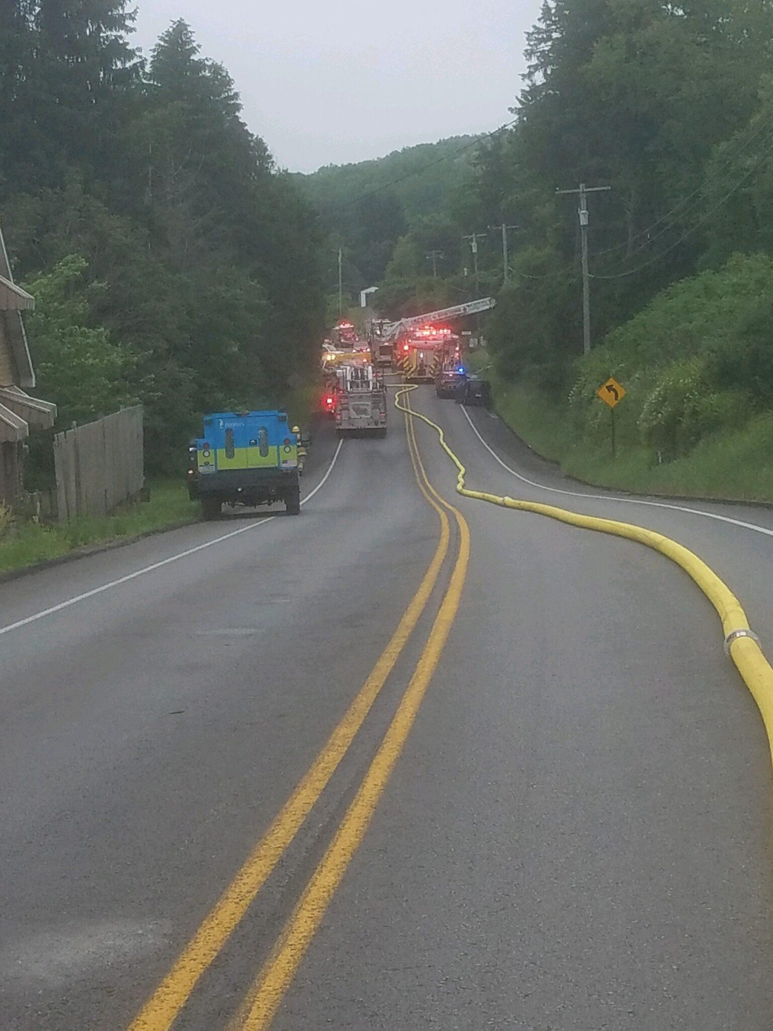Crews Battle House Fire In Center Twp.