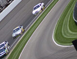 Hamlin crash aids Harvick win at the Brickyard