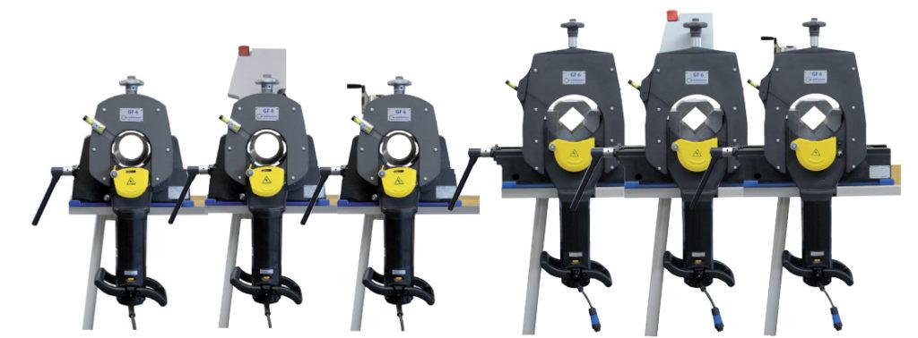 Picture of various Orbitalum GF4 cutoff saws