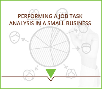 Performing a job task analysis in a small business