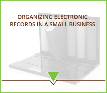 Organizing electronic records in a small business