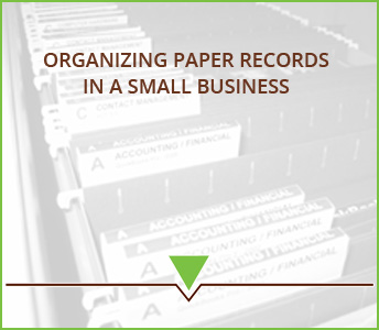 Organizing paper records in a small business