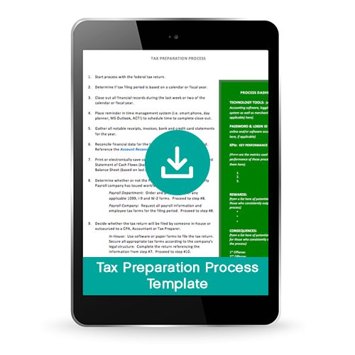 Tax Preparation Process and Procedure Template