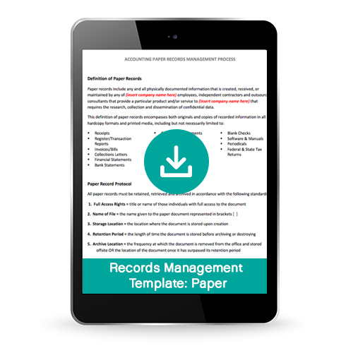 Financial Paper Records Management Process Template (Premium)
