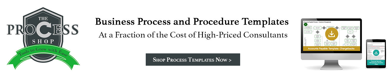 Shop Business Process and Procedure Templates