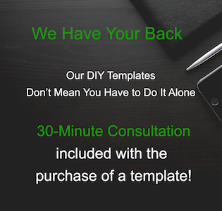 30 minute consultation included with the purchase of a template