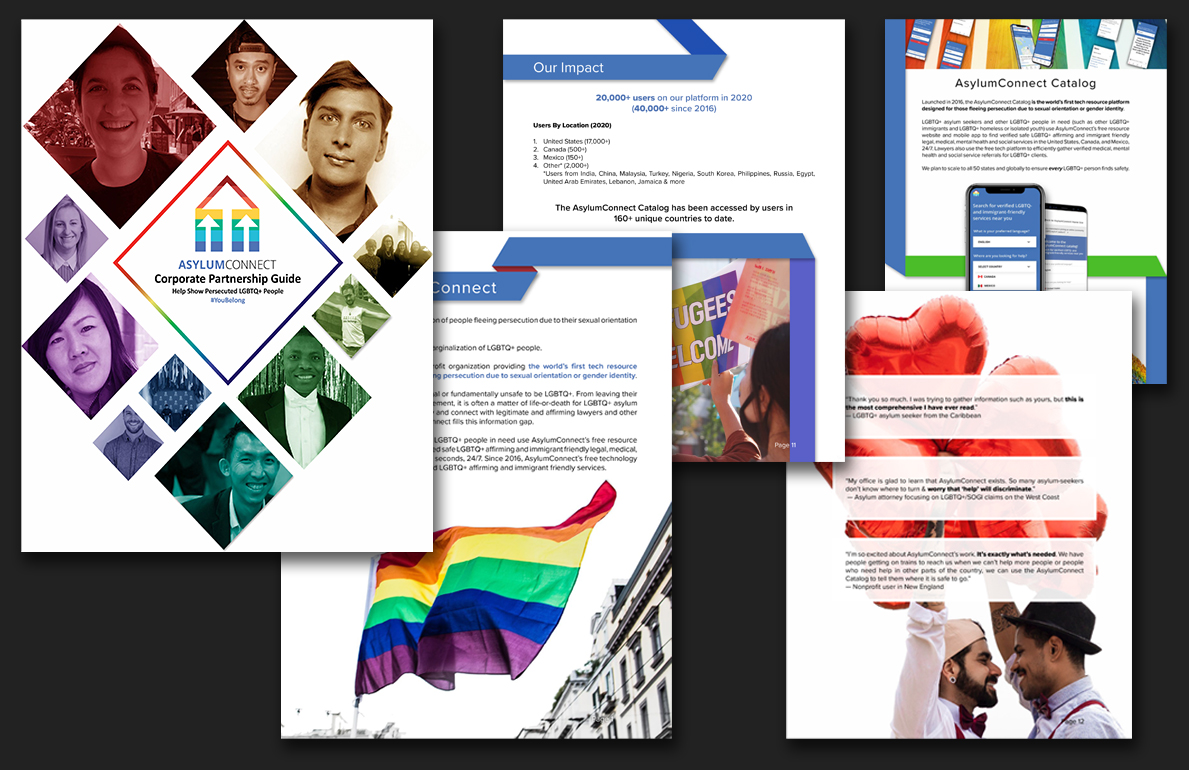 several pages for corporate partnership guide