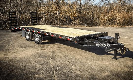 Moritz UDC Series Bumper Pull Deckover Equipment Trailers