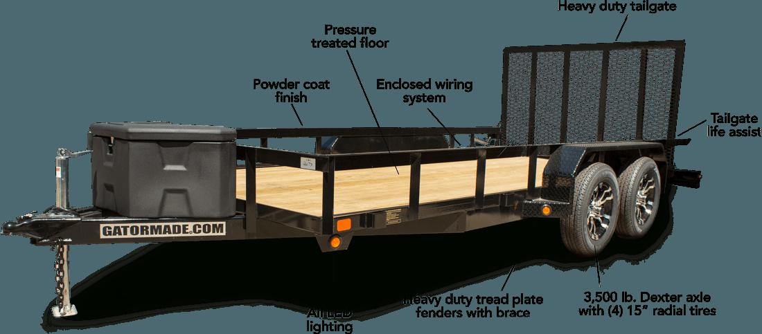Gatermade tandem axle trailer