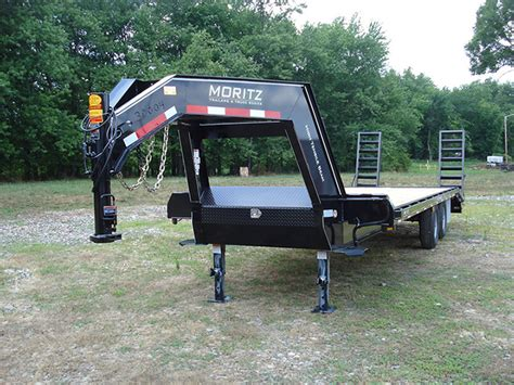 Moritz FH Series Flatbed Trailer with Adjustable Tail