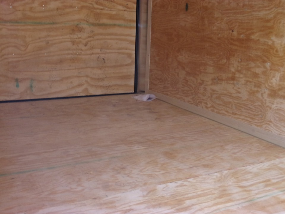 Inside Hercules enclosed cargo trailer