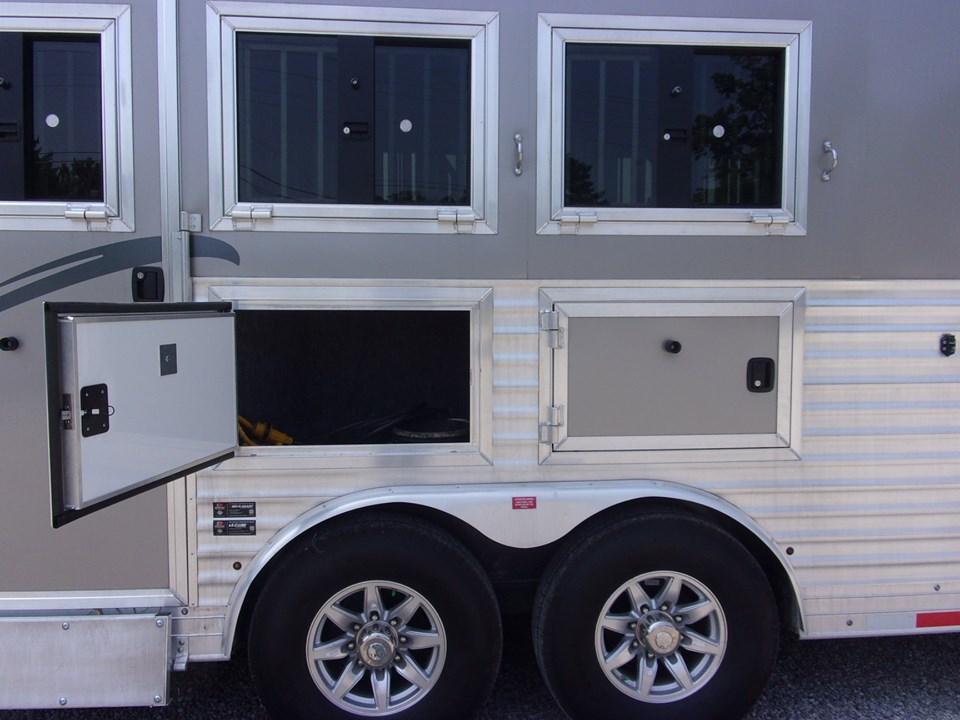 Merhow trailers outside