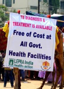 Free TB treatment is available at all government helath centres in India