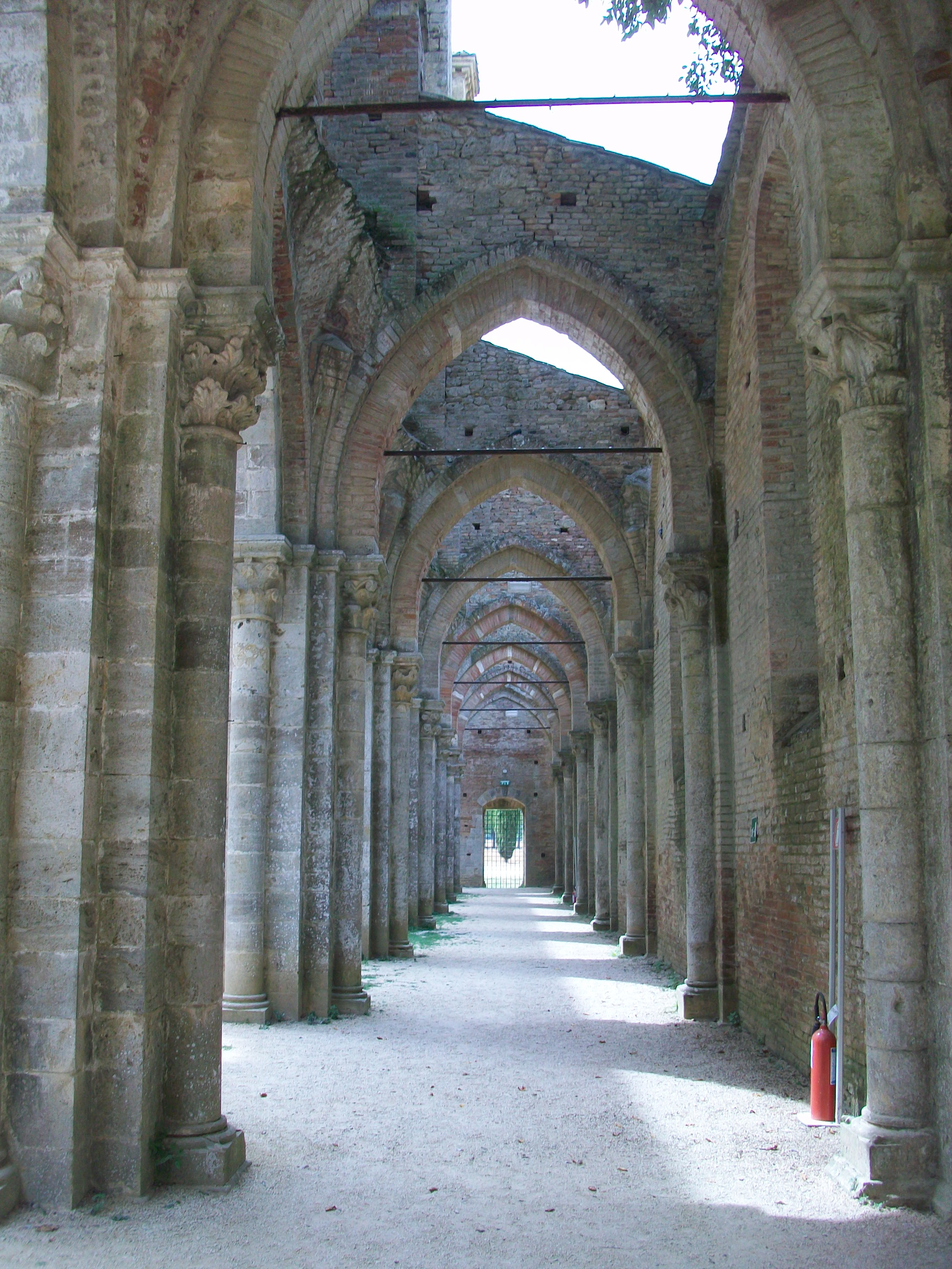 This picture demonstrates the archways in the cathedral