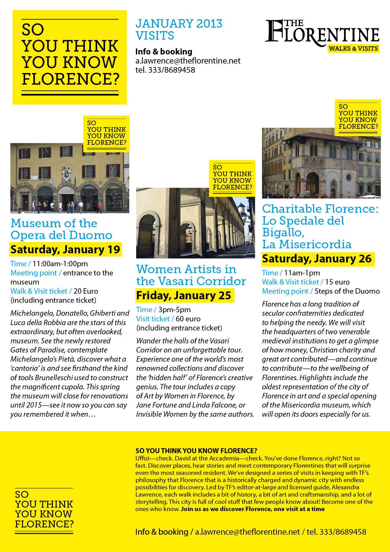 TF Walks and Visits_Jan 2013