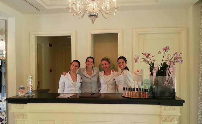 Lovely STaff at the Four Seasons Spa